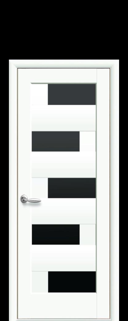 3.23 Пиана с черным стеклом Цвет белый матовый