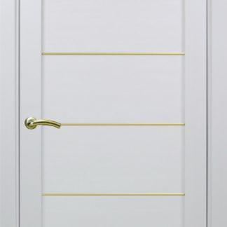Фото Дверное полотно Турин 501 АПП с молдингом SG Цвет белый монохром