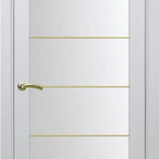 Фото Дверное полотно Турин 501 АСС с молдингом SG Цвет белый монохром