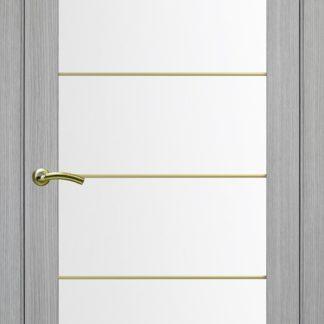 Фото Дверное полотно Турин 501 АСС с молдингом SG Цвет серый дуб
