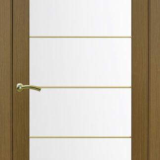 Фото Дверное полотно Турин 501 АСС с молдингом SG Цвет орех классик