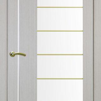 Фото Дверное полотно Турин 524 АСС Молдинг SC/SG Цвет беленый дуб