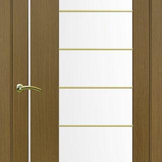 Фото Дверное полотно Турин 524 АСС Молдинг SC/SG Цвет орех классик
