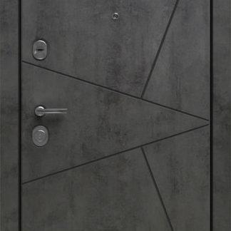 Фото Дверь входная металлическая «Лофт» камень светло-серый