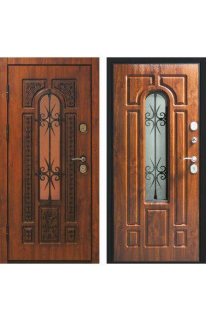 Фото Дверь входная металлическая «Сицилия» дуб золотой