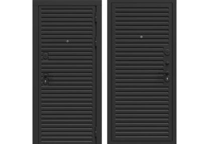 Фото Дверь входная металлическая «Лайн» черный софт