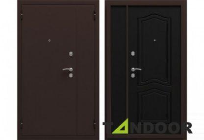 Фото Дверь входная металлическая двустворчатая «Аврора» ясень белый