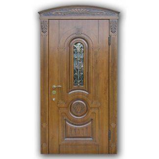 Фото Дверь входная металлическая со стеклопакетом А-36
