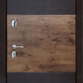 Фото Дверь входная металлическая «Браун» венге/акация