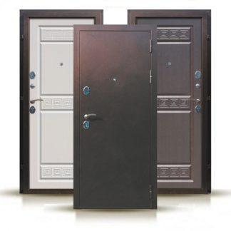 Фото Дверь входная металлическая «Гефест» сандал белый/венге