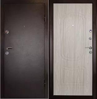 Фото Дверь входная металлическая «Фаворит» дуб беленый