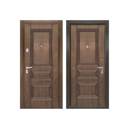 Фото Дверь входная металлическая «Рим» дуб темный