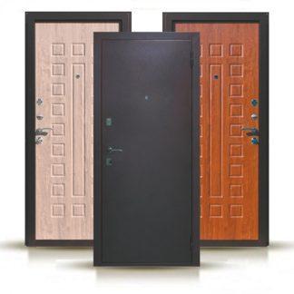 Фото Дверь входная металлическая «Экстра Д-7» дуб рустикальный