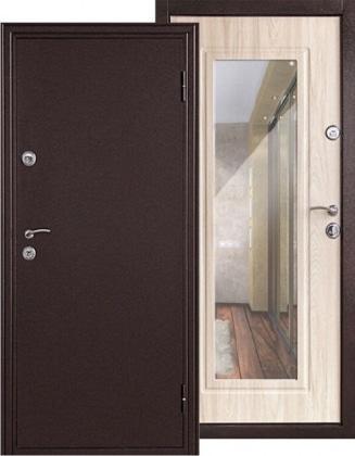 Фото Дверь входная металлическая «Элегия» дуб беленый