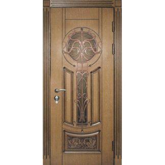 Фото Дверь входная металлическая со стеклопакетом R-46