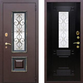 Фото Дверь входная металлическая «Венеция 2» венге
