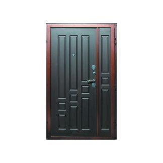 Фото Дверь входная металлическая двустворчатая «Комфорт» венге