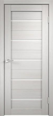 Фото Дверное полотно Duplex Дуб белый Белый лакобель