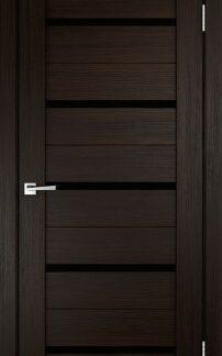 Фото Дверное полотно Duplex Венге Черный лакобель